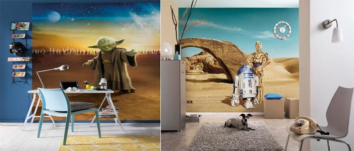 Maestro Yoda y R2-D2 con C-3PO