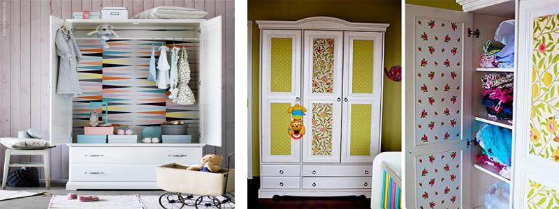 Decorar muebles con papel pintado isma - Papel pintado para puertas ...